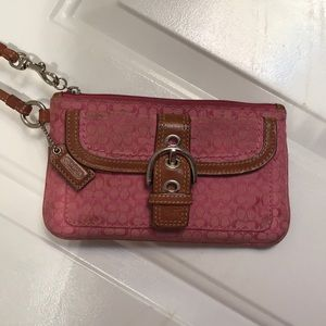 Used Pink Coach Clutch